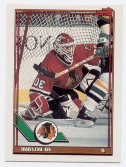 1991-92 Topps Ed Belfour Promo Card Chicago Blackhawks