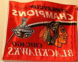 2010 Chicago Blackhawks Stanley Cup Champions Car Flag New N