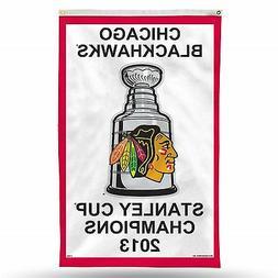 2013 Chicago Blackhawks Stanley Cup Champions 3x5 Vertical B