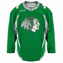 Adult Mens M Reebok Green Chicago Blackhawks Hockey Practice