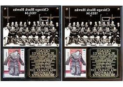 Chicago Blackhawks 1934 Stanley Cup Champions Photo Plaque