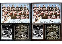 Chicago Blackhawks 1938 Stanley Cup Champions Photo Plaque