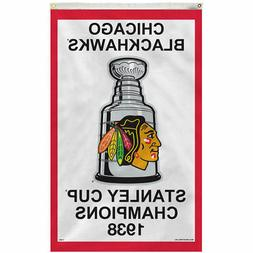 Chicago Blackhawks 1938 Stanley Cup Rafter Banner and Banner