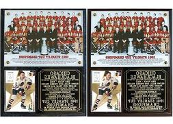 Chicago Blackhawks 1961 Stanley Cup Champions Photo Plaque