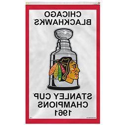 Chicago Blackhawks 1961 Stanley Cup Champions 3' x 5' Vertic