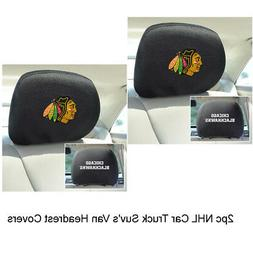 Chicago Blackhawks 2-Pack Auto Car Truck Embroidered Headres