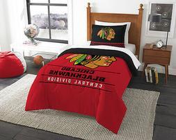 Chicago Blackhawks 2 Piece Twin Size Comforter and Sham Set