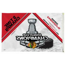 Chicago Blackhawks 2015 Champions 3x5 Flag and Banner