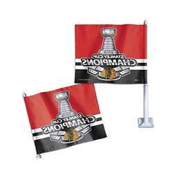 Chicago Blackhawks 2015 Stanley Cup Championship Car Flag