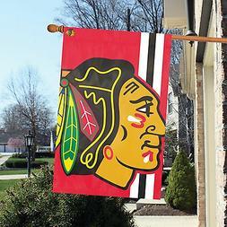 Chicago Blackhawks 2x3 BOLD LOGO Design Banner Outdoor House