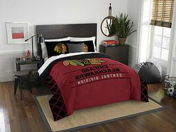 Chicago Blackhawks 3 Piece Full/Queen Comforter and 2 Shams