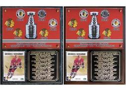 Chicago Blackhawks 6-Time Stanley Cup Champions Photo Card P