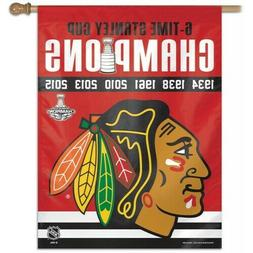 CHICAGO BLACKHAWKS 6-Time Stanley Cup Champions NHL Hockey 2