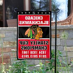 WinCraft Chicago Blackhawks 6 Time Stanley Cup Champions Dou