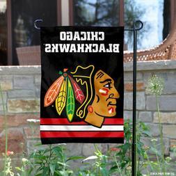 Chicago Blackhawks Black Garden Flag and Yard Banner