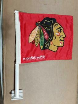 Chicago Blackhawks Car Window Red Flag Game Giveaway