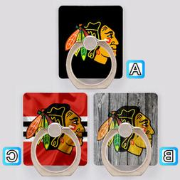 Chicago Blackhawks Cell Phone Holder Ring Stand Mount Access