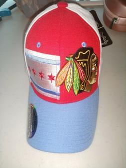 Chicago Blackhawks Chicago Flag Zephyr ZHat flexfit size Lar