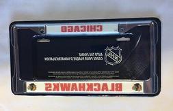 Chicago Blackhawks Chrome/Metal Auto Tag License Plate Frame