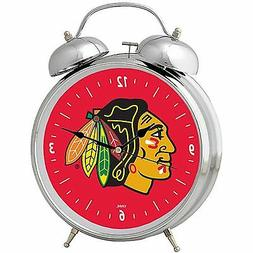 CHICAGO BLACKHAWKS Clock 2 Bell Alarm Retro Style New in Pac