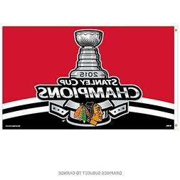 Chicago Blackhawks 3'x5' Flag - 2015 Champion