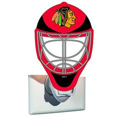 Team Sports America Chicago Blackhawks Goalie Mask Glass Nig