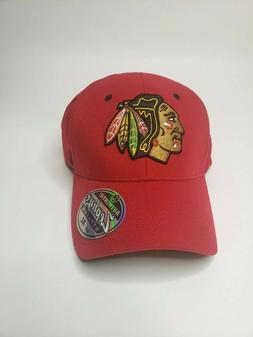 """Chicago Blackhawks Hat Cap """"The Break Away Flexfit Cap"""" By Z"""