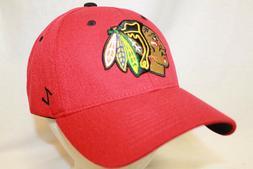 "Chicago Blackhawks Hat Cap ""The Break Away  Flexfit Cap RED"""