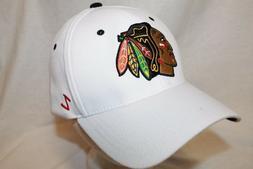 "Chicago Blackhawks Hat Cap ""The Break Away  Flexfit Cap WHT"""