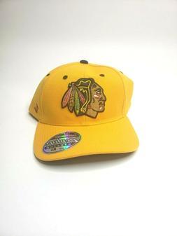 "Chicago Blackhawks Hat Cap ""The Break Away  Flexfit Cap YLW"""