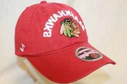 "Chicago Blackhawks Hat Cap ""The Center Ice Relaxer Cap Red"""