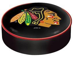 Chicago Blackhawks HBS Black Vinyl Slip Over Bar Stool Seat
