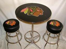 Chicago Blackhawks Hockey Bar Stools & Pub Table