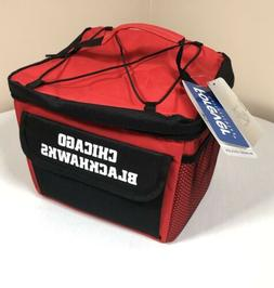 Chicago Blackhawks Insulated Cooler NHL Red Zippered