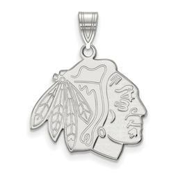 Chicago Blackhawks Large Pendant in Sterling Silver 3.02 gr