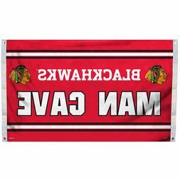 Chicago Blackhawks Man Cave Banner Flag