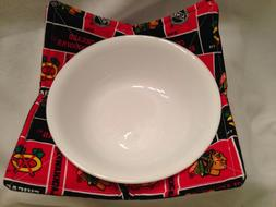 Chicago Blackhawks Microwave Bowl Cozy Holder Quilted Cotton