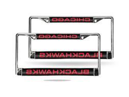 Chicago Blackhawks NHL Chrome Metal  Laser Cut License Plate