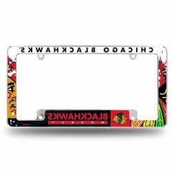Chicago Blackhawks NHL Chrome Metal License Plate Frame with