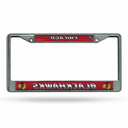 Chicago Blackhawks NHL Chrome Metal License Plate Frame