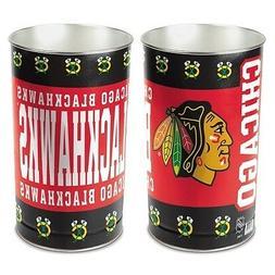 CHICAGO BLACKHAWKS ~ NHL Hockey 15 Inch Wastebasket Trash Ca