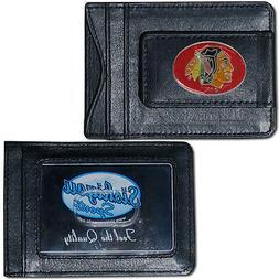 Chicago Blackhawks Official NHL Leather Cash & Cardholder by