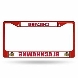 Chicago Blackhawks NHL Licensed Red Painted Chrome Metal Lic