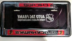 Chicago Blackhawks NHL Metal License Plate Frame - NEW