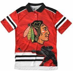 Chicago Blackhawks NHL Polyester Short Sleeve Thematic Polo