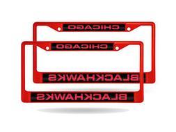 Chicago Blackhawks NHL  Red Metal Laser Cut License Plate Fr