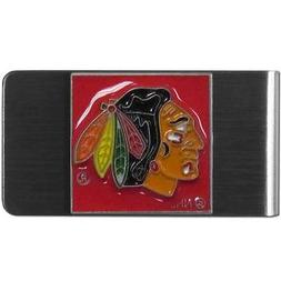 Chicago Blackhawks NHL Stainless Steel Money Clip