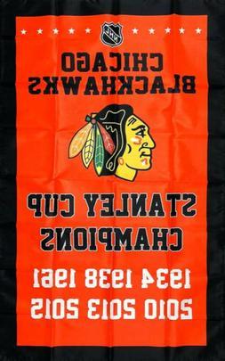Chicago Blackhawks NHL Stanley Cup Championship Hockey Flag