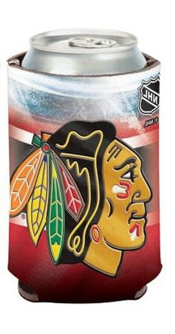 "Chicago Blackhawks Official NHL 4"" Tall Coozie Can Cooler"