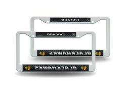 Chicago Blackhawks NHL White Plastic  Auto License Plate Fra